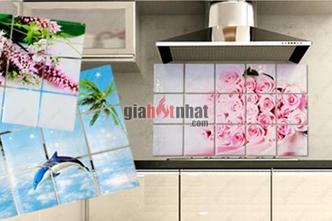 Combo 2 giấy dán tường nhà bếp cách nhiệt, chống thấm dầu mỡ, không thấm...