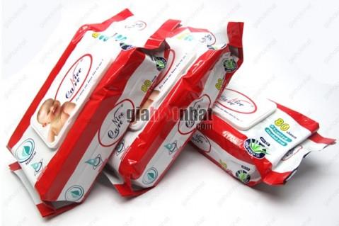 Combo 3 hộp khăn giấy ướt NICE CARE mềm mại, hương Aloe Vera,tạo cảm giác mát...
