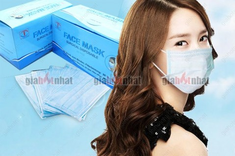 Combo 2 hộp khẩu trang y tế Face mask 50 cái/hộp, giúp ngăn ngừa bụi, vi khuẩn,...