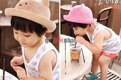 Nón Gấu Hàn Quốc ngộ nghĩnh phù hợp cho cả bé trai và bé gái.