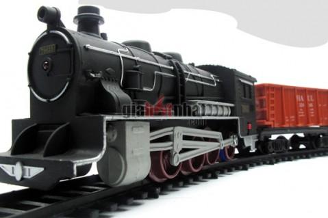 Bộ mô hình đường ray xe lửa cổ điển chạy ray có âm thanh,Chất liệu nhựa...
