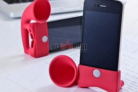 Đế và loa khuếch đại nghe nhạc Stand horn dành cho Iphone. không cần sạc pin,...