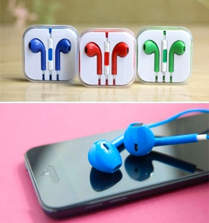QPON - Headphone Mau Danh Cho Iphone 5