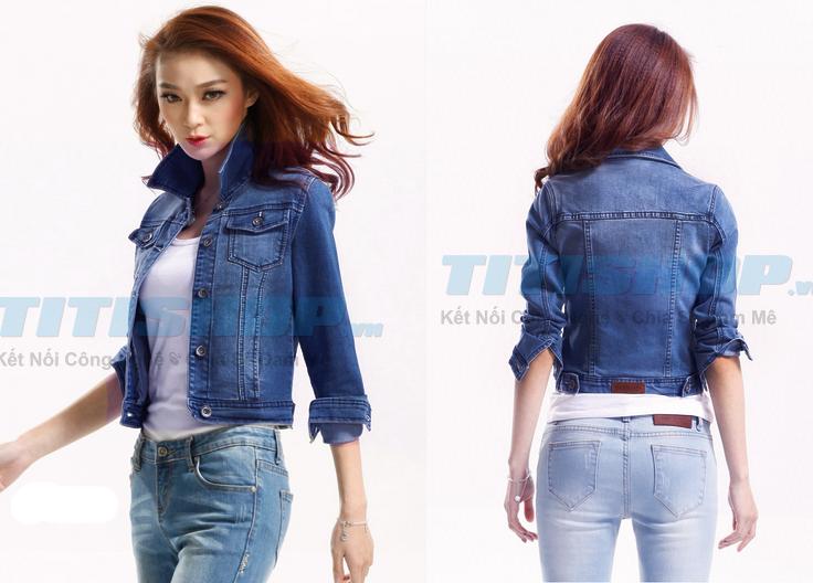 Áo khoác Jean nữ form lửng Fashion Teen