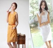 Đầm Linen công sở