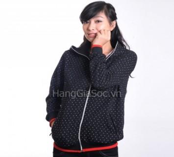 N629 :Áo khoác chấm bi Hà...