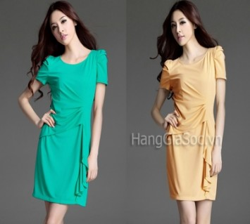 N620 :Đầm SGS nhún eo bèo