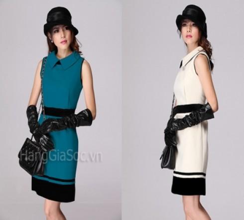 N840 :Đầm tua rua