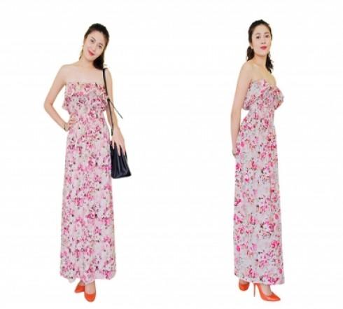N837 :Đầm tôn maxi