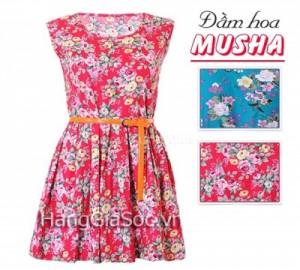 N902 :Đầm hoa dáng xòe Mu...