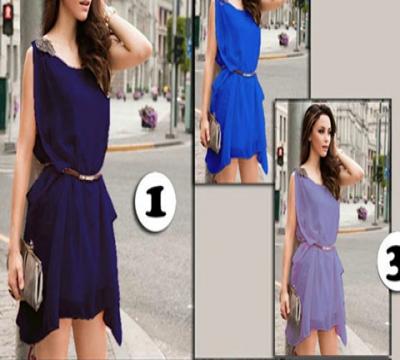 N414 :Đầm đính vai sành điệu