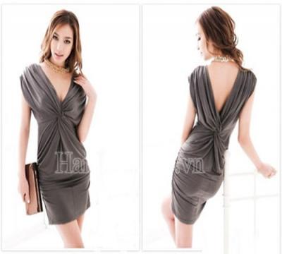 N988 :Đầm body thắt nơ lưng