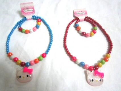Combo Dây chuyền + lắc tay Hello Kitty