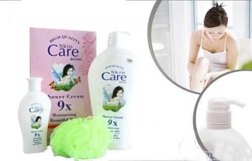 Bộ 2 chai sữa tắm dê Skin Care