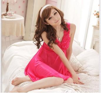 Váy Ngủ Dây Bông Hồng