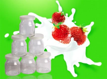 Bộ 12 cốc làm sữa chua bằng thủy tinh