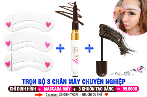 HCM Deal VN - Combo Bo Khuon + But Ve Chan May Ashley