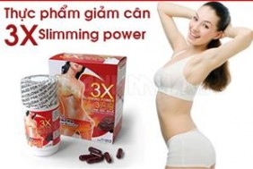 Thuoc giam can 3X slimming power, chiet xuat 100% nam linh chi (Nhat Ban), cong thuc moi vuot troi, giam can tuyet voi trong thoi gian ngan chi voi 125.000