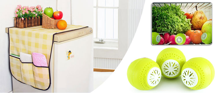 3 viên khử mùi tủ lạnh + 1 tấm phủ tủ lạnh đa năng