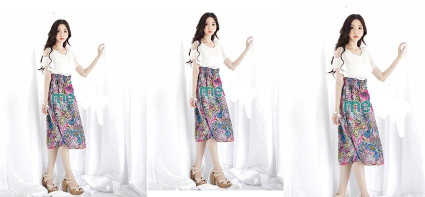 Váy liền xẻ vai MB 6602