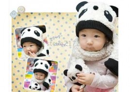 Bộ Khăn Mũ Gấu Panda Chất Liệu Bông Cao Cấp Mềm Mại - Cho Bé Yêu Thật Xinh Xắn, Ngộ Nghĩnh Và Luôn Ấm Áp Trong Mùa Đông Này. Bộ Sản Phẩm Trị Giá 174.000Đ Giảm 50% Chỉ Còn 87.000Đ Tại