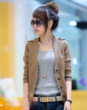Hot Deal - Ao Khoac Cardigan Nu Vien Burberry