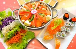 Thưởng Thức 1 Trong 5 Combo Các Món Sushi Và Xiên Que Thơm Ngon Trong Không Gian Ấm Cúng, Sang Trọng Của Nhà Hàng Sushi & Que. Voucher Trị Giá 175.000 VNĐ, Còn 75.000 VNĐ, Giảm 57%.