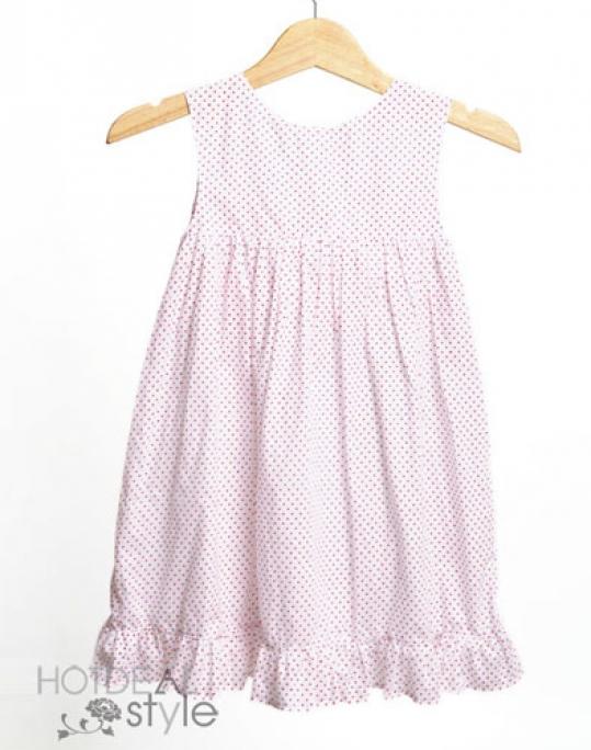 Đầm Chấm Bi Xinh Xắn Cho Bé
