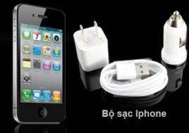 Bộ Sạc iPhone 3G/3GS/4G/4GS: 01 Đầu Sạc Trên Xe Ôtô + 01 Đầu Sạc Cắm Điện + 01 Dây Sạc. Bộ Sản Phẩm Trị Giá 137.000Đ Còn 69.000Đ, Giảm 50%