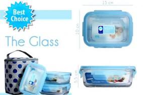 Bộ 3 Hộp Thủy Tinh The Glass + Túi Giữ Nhiệt – Chất Liệu Thủy Tinh Cao Cấp Nhập Khẩu Từ Hàn Quốc – Cho Bạn Bữa Ăn Bổ Dưỡng, Thơm Ngon. Giá 250.000 VNĐ, Còn 179.000 VNĐ, Giảm 28%.