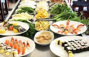Thưởng Thức Tiệc Buffet Sushi, Lẩu Và Hải Sản Nướng Thơm Ngon Với Trên 79 Món Thịt, Hải Sản, Rau Nấm Ăn Kèm + Trái Cây Tráng Miệng Tại Nhà Hàng Paradise. Voucher 307.000VNĐ, Còn 185.000VNĐ, Giảm 40%.