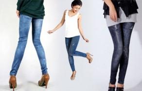 Trẻ Trung, Sành Điệu Và Cá Tính Với Quần Legging Giả Jeans – Kiểu Dáng Thời Trang, Chất Liệu Thun Mềm Mịn. Giá 130.000 VNĐ, Còn 79.000 VNĐ, Giảm 39%.
