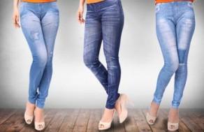 Thể Hiện Vẻ Tự Tin, Cá Tính Của Các Bạn Gái Cùng Quần Legging Giả Jeans – Kiểu Dáng Hiện Đại, Trẻ Trung. Giá 150.000 VNĐ, Còn 79.000 VNĐ, Giảm 47 %.