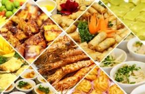 Thỏa Thích Thưởng Thức Tiệc Buffet Trưa Với Nhiều Món Ăn Thơm Ngon, Hấp Dẫn Tại Nhà Hàng Hải Sản Tự Do. Voucher 165.000 VNĐ, Còn 109.000 VNĐ, Giảm 3 4%.