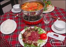 Hot Deal - Thuong Thuc Dac San Thit Trau Voi 1 Trong 2 Set Lau Trau Cho 2 Nguoi Tai Nha Hang Trau Viet. Voucher 280.000D Chi Con 125.000D. Giam 55%