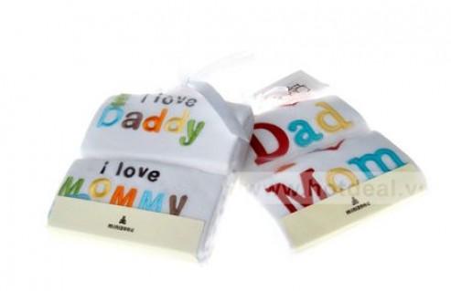 Set 2 Áo Liền Thân Tay Ngắn Body Minizone Chủ Đề I Love Daddy & I Love Mommy Cho Bé Dưới 18 Tháng Tuổi, Chất Liệu Cotton Thoáng Mát. Giá 240.000 VNĐ, Còn 150.000 VNĐ, Giảm 38%.