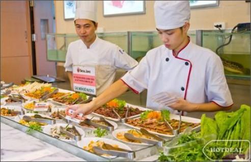 Thưởng Thức Buffet Lẩu Và Nướng Không Khói Hàng Đầu Hà Nội Tại Nhà Hàng Chef Dzung's Với Gần 200 Món Hấp Dẫn (Miễn Phí Pepsi Tươi). Voucher 373.000Đ Chỉ Còn 246.000Đ. Giảm 34%