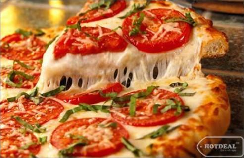 """Măm Pizza Ngon Tuyệt Hấp Dẫn Với Giá Cực """"Mềm"""" Trong Không Gian Lãng Mạn Trẻ Trung Của Pizza Box. Voucher Trị Giá 120.000Đ Còn 75.000Đ. Giảm 38% Tại"""
