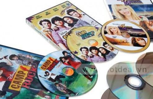 Rộn Ràng Âm Nhạc, Ngập Tràn Niềm Vui Với Combo 3 Phim Tuổi Teen Gồm: Hannah Montana – The Movie, Camp Rock, Camp Rock 2: The Final Jam. Giá 170.000 VNĐ, Còn 85.000 VNĐ, Giảm 50 %.