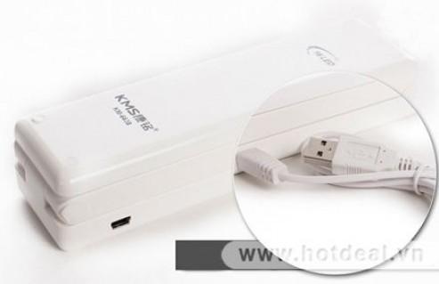 Đèn Led KMS 6638 - 16 Bóng – Hoạt Động Qua Pin AAA Hoặc Cổng Cắm USB, Cho Bạn Thoải Mái Học Tập Và Làm Việc Ban Đêm Cùng Máy Tính. Sản Phẩm Trị Giá 150.000Đ Chỉ Còn 85.000Đ. Giảm 43% Tại - 1 - Gia Dụng