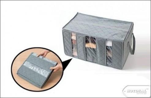Túi Vải Đựng Đồ 3 Ngăn Tiện Dụng – Giúp Tiết Kiệm Không Gian Và Bảo Quản Hữu Hiệu Đồ Dùng Và Quần Áo. Sản Phẩm Trị Giá 150.000 VNĐ, Còn 75.000 VNĐ, Giảm 50%,