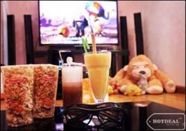 """Thưởng Thức Những Bộ Phim 3D, HD Hấp Dẫn Với """"Rạp Chiếu Phim Thu Nhỏ"""" Tại Cafe Friends. Voucher 220.000Đ Cho Set Ăn Uống Và Xem Phim Cho 02 Người Giảm 64% Chỉ Còn 80.000Đ Tại"""