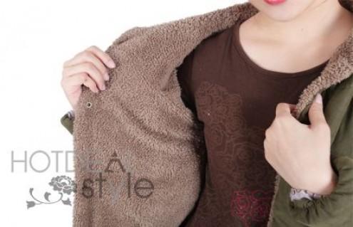 Ấm Áp Và Thời Trang Với Áo Khoác Lót Bông Thời Trang Dành Cho Nữ. Sản Phẩm Trị Giá 350.000Đ Chỉ Còn 230.000Đ. Giảm 34%