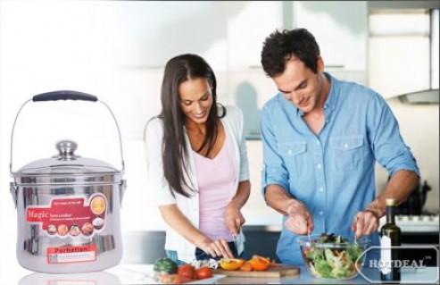 Giúp Bạn Chế Biến Thức Ăn Nhanh Chóng Và Tiết Kiệm Hơn Với Nồi Ủ Đa Năng Magic Save Cooker( Dung Tích 05Lít). Voucher Trị Giá 950.000Đ Chỉ Còn 575.000Đ. Giảm 39%