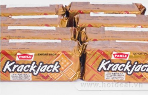 Combo 12 Gói Bánh Quy Giòn Krack Jack – Nhập Khẩu Từ Ấn Độ, Thơm Ngon, Giầu Dinh Dưỡng, Thích Hợp Sử Dụng Hoặc Làm Quà Tặng Ngày Tết Cho Người Thân. ComBo Trị Giá 140.000Đ Chỉ Còn 90.000Đ. Giảm 36% Tại .