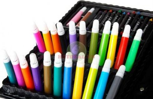 Bộ Màu Vẽ 101 Món Gồm Đủ Các Loại Bút Vẽ - Cho Bé Yêu Thỏa Sức Sáng Tạo Và Phát Triển Năng Khiếu. Sản Phẩm Trị Giá 170.000Đ Chỉ Còn 85.000Đ. Giảm 50%
