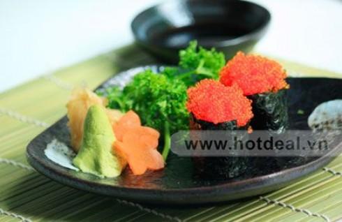 Tha Hồ Thưởng Thức Các Loại Sushi Ngon Và Nổi Tiếng Nhất Của Nhật Bản Với Tiệc Buffet Sushi Tại Nhà Hàng Tenshi Sushi. Voucher 275.000 VNĐ, Còn 165.000 VNĐ, Giảm 40%.