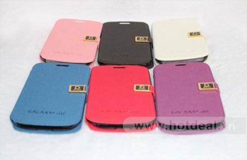 Khẳng Định Đẳng Cấp Công Nghệ Với Bao Da Galaxy S III – Thiết Kế Sành Điệu, Cá Tính, Nhiều Màu Sắc Thời Trang. Giá 250.000 VNĐ, Còn 129.000 VNĐ, Giảm 48%.