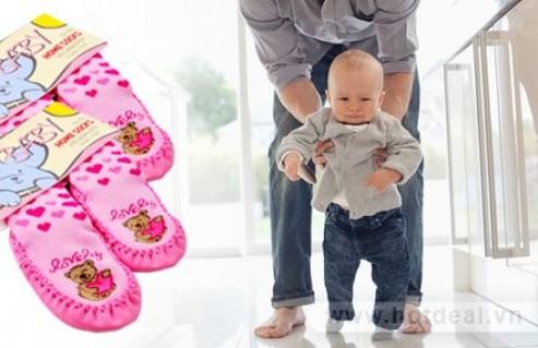 Tất Xinh Cho Bé Yêu Giữ Ấm Chân Và Chống Trơn Trượt, Cho Bé Thoải Mái Vui Đùa Mà Không Sợ Ngã. Combo 02 Tất Chống Trơn Trượt Baby Home Shock Trị Giá 160.000Đ Chỉ Còn 84.000Đ. Giảm 48% Tại