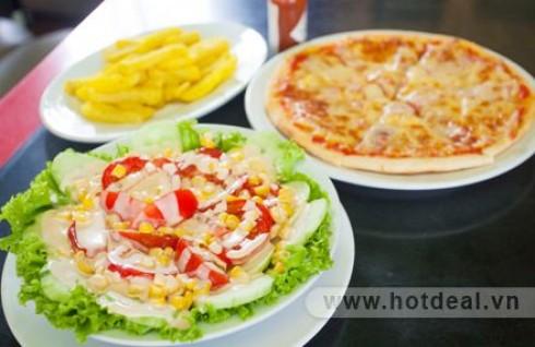 Thỏa Sức Thưởng Thức Pizza Với Giá Siêu Hấp Dẫn. Set Ăn Dành Cho 2 Người Gồm 01 Pizza Size 25 + 01 Salad + 01 Đĩa Khoai tây Chiên Tại Gecko Bar & Restaurant. Voucher 202.000Đ Chỉ Còn 110.000Đ. Giảm 46%